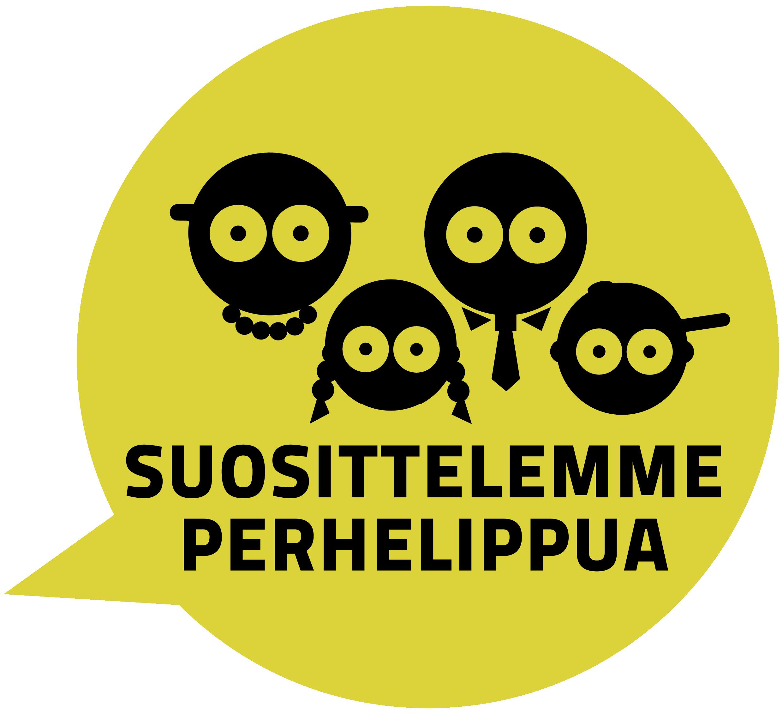 Suosittelemme perhelippua -symboli